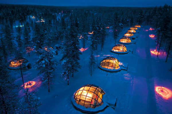 芬兰Kakslauttanen透明旅馆